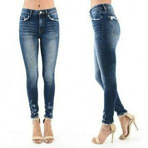 KanCan Chelsea-Lala Distressed Skinny Jeans